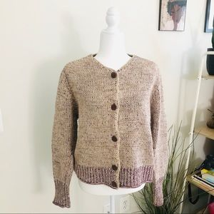 Sundance Button Cable Knit Cardigan